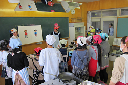見附市立新潟小学校5年 食育授業3